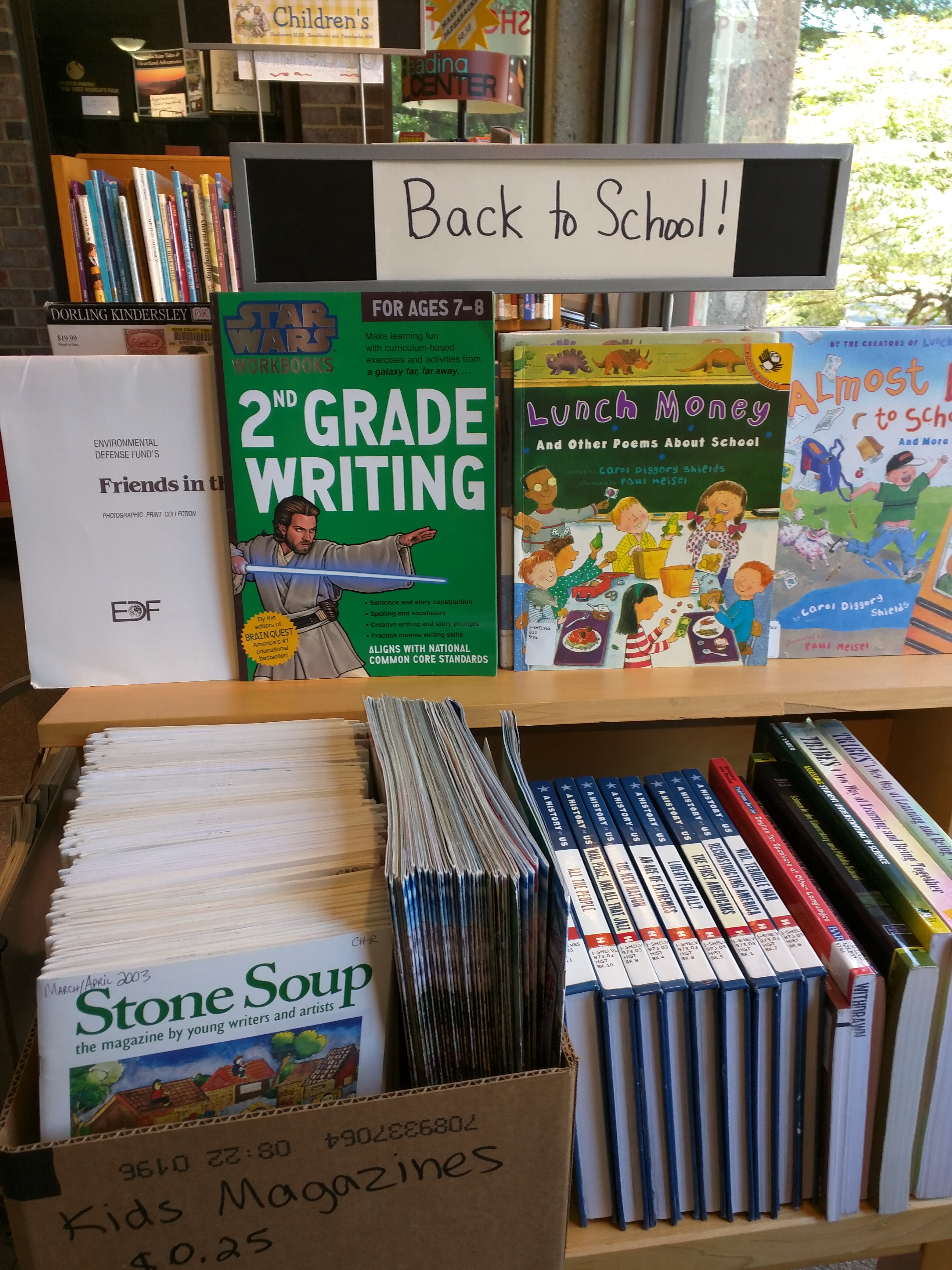 Back to School display | Friends of the Knox County Public